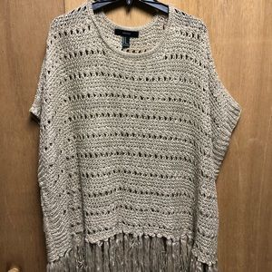Forever 21 Tan Knit Poncho